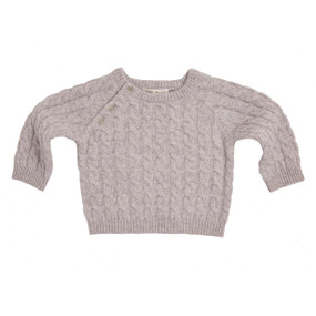 BABY CASHMERE CABLE SWEATER