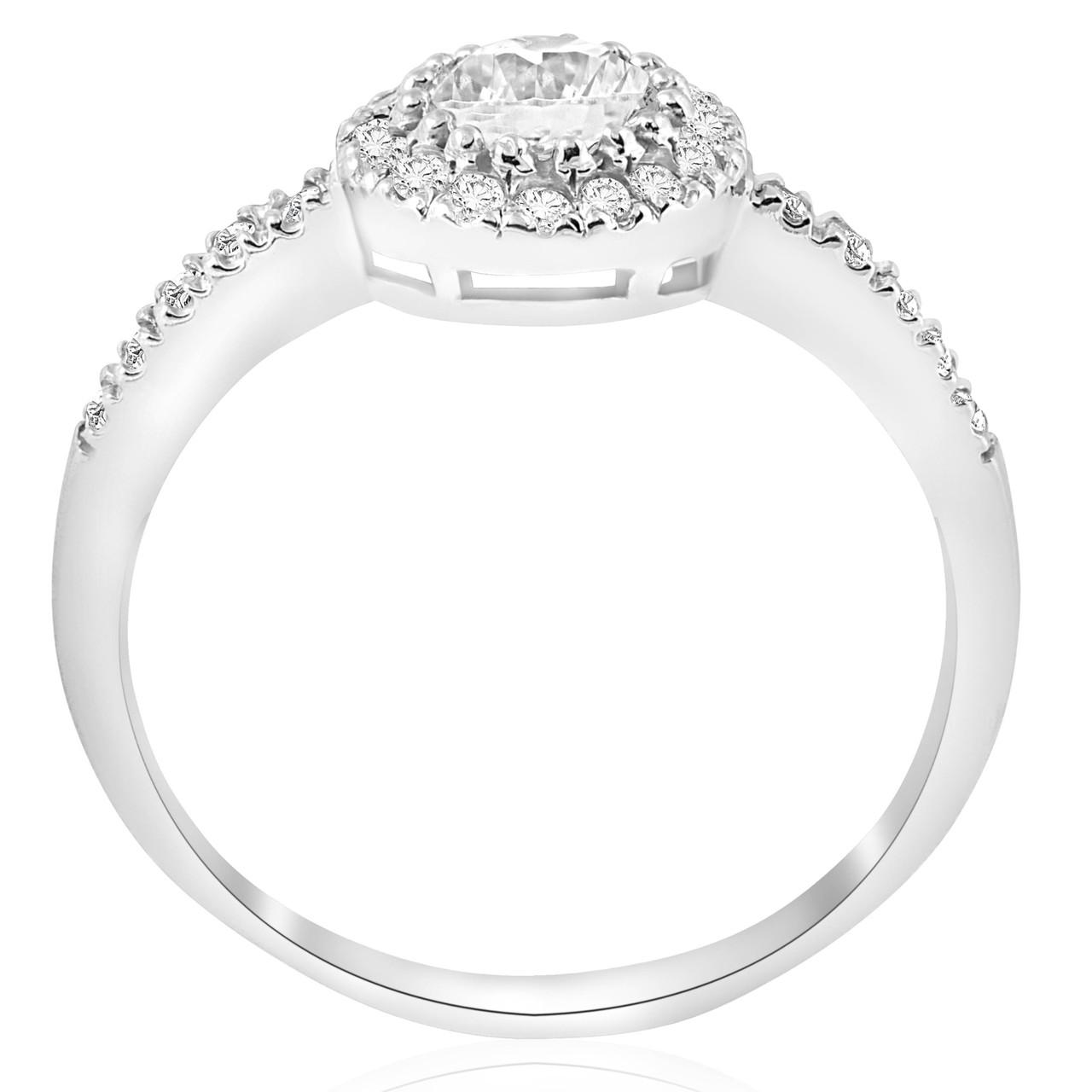 2ct Round Enhanced Diamond Engagement Halo Wedding Ring Trio Set