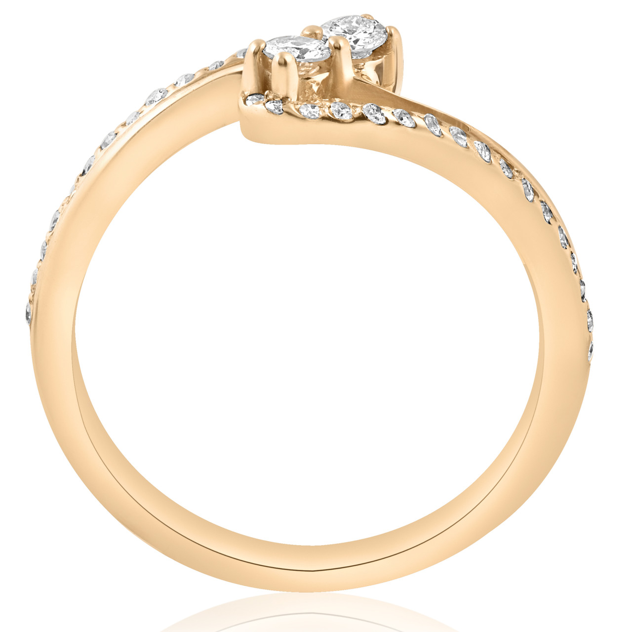 12ct two stone diamond forever us engagement ring 10k yellow gold ij i1 i2 - 10k Wedding Ring