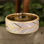 New mens vintage inspired wedding band collection.