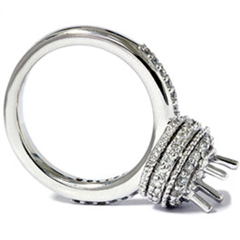 1/2ct Antique Diamond Ring Setting 14K White Gold (G/H, I2)