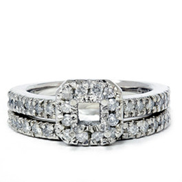 3/4ct Princess Cut Diamond Engagement Ring Setting 14K (G/H, I1)