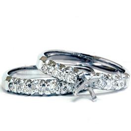 White Gold 1/2ct Diamond Semi Mount Engagement Wedding Ring (G/H, I1)