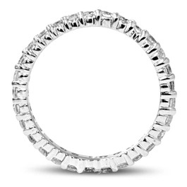 1 1/2ct Prong Diamond Eternity Ring 14K White Gold (G/H, SI)