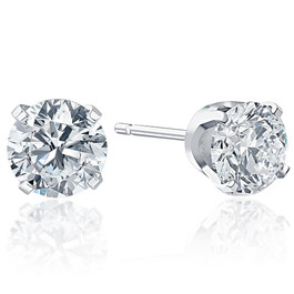 .25Ct Round Brilliant Cut Natural Quality Diamond Stud Earrings in 14K Gold Classic Setting (G/H, SI1-SI2)