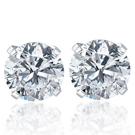 .20Ct Round Brilliant Cut Natural Diamond Stud Earrings Classic Set in 14K Gold (G/H, I2-I3)