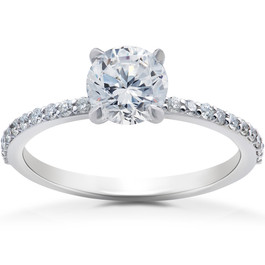 1 ct Lab Grown Diamond Sophia Engagement Ring 14k White Gold (F, VS)