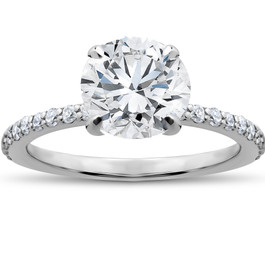 1 3/4 ct Lab Grown Diamond Sophia Engagement Ring 14k White Gold (F, VS)