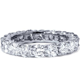 3ct Trellis Diamond Eternity Ring 14K White Gold (G/H, I1)