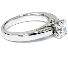 1/2 ct Round Cut Solitaire Diamond Cathedral Heavy 5g Engagement Ring White Gold (F, VS)