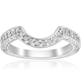 3/4ct White Gold Curve Notched Diamond Enhancer 14K (G/H, I1)