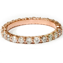 1ct Diamond Eternity Ring 14k Rose Gold ((G-H), SI(1)-SI(2))