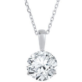 2 ct Solitaire Diamond Pendant available in 14K and Platinum (F, SI1-SI2)
