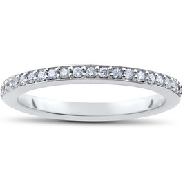 1/4ct Stackable Diamond Wedding Ring (F, VS)