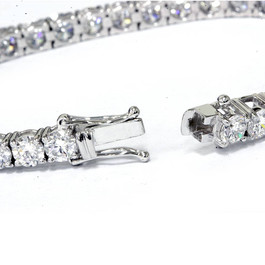 "12.36 ct Diamond Tennis Bracelet 18k White Gold 7"" Lab Grown (F, VS)"