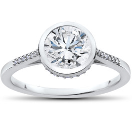 1 5/8 ct Lab Grown Diamond Aria Engagement Ring 14k White Gold (F, VS)