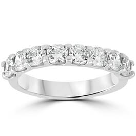 1 1/2 Ct U Shape Prong Diamond Wedding Ring 14K White Gold (H/I, I1-I2)