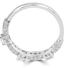 1/2 Ct Vintage Diamond Wedding Ring 14K White Gold (H/I, I1-I2)
