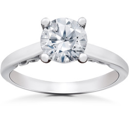1 ct Lab Grown Eco Friendly Diamond Gabriella Engagement Ring 14k White Gold (F, VS)