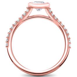 3/4ct Charlotte Diamond Engagement Ring 14k Rose Gold Lab Grown Bezel Round (F, VS)