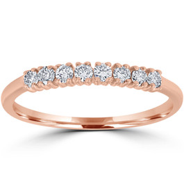 1/5ct Diamond Wedding Ring 14K Rose Gold (G-H, I1)