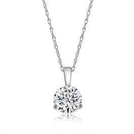 1/5 ct Solitaire Diamond Pendant available in 14K and Platinum (F, SI1-SI2)