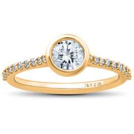 3/4ct Charlotte Lab Grown Diamond Engagement Ring 14k Yellow Gold (F, VS)