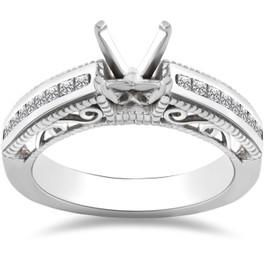 3/8ct Princess Cut Diamond Engagement Ring 14K Setting (H, I1)