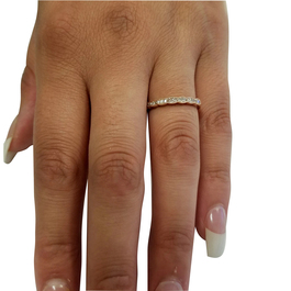 1/5 cttw Diamond Stackable Womens Wedding Ring 14k Rose Gold (I/J, I2-I3)