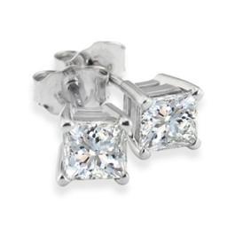 7/8ct Diamond Studs 14K White Gold (G/H, SI2/SI3)