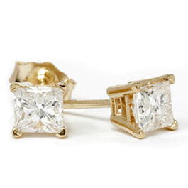 3/4ct Diamond Studs 14K Yellow Gold (G/H, SI2-SI3)