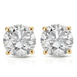 7/8ct Diamond Studs 14K Yellow Gold (G/H, I1-I2)