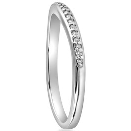 1/10 cttw Diamond Guard Engagement Wedding Ring Enhancer Band 14k White Gold (H/I, I1-I2)