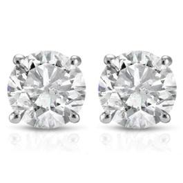 1 1/2ct Diamond Studs 14K White Gold (G/H, I2-I3)