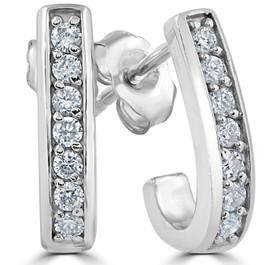 1/3ct Diamond Hoops 14K White Gold (G/H, I1-I2)