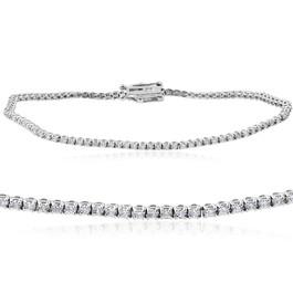 """1 1/2 cttw Diamond Tennis Bracelet 14k White Gold 7"""" (H, I1-I2)"""
