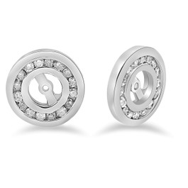 1/2 cttw Diamond Earring Jackets 14K White Gold Fitis 1/4ct Stones (G/H, I1)