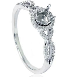 1/5ct Diamond Infinity Ring Setting 14K White Gold (G/H, I2)