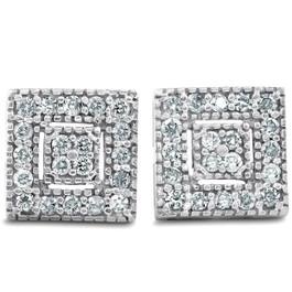 1/3ct Diamond Stud Earrings White Gold 14K (I, I2)