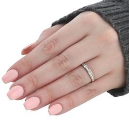 1/4ct Diamond White Gold Wedding Anniversary Guard Ring (G/H, I2)