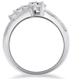 1/2ct Diamond Fancy Vintage Journey Right Hand Ring 14K White Gold (G/H, I2)