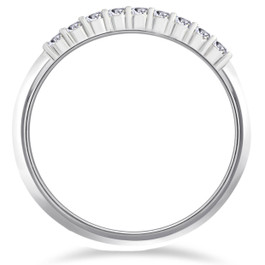 1/4ct Lab Grown Diamond Wedding Stackable Ring 14K White Gold (F, VS)