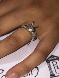 1ct Diamond Semi Mount Engagement Ring Setting 14K (G/H, I1)