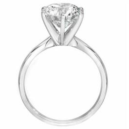 3ct Enhanced Round Diamond Solitaire Engagement Ring 14K White Gold (I/J, I2-I3)