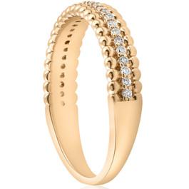 14K Yellow 1/6 CTW Diamond Beaded Ring (H/I, I1-I2)