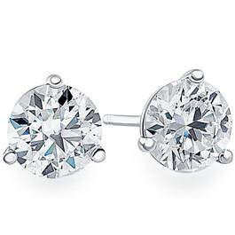 .20Ct Round Brilliant Cut Natural Diamond Stud Earrings Martini Set in 14K Gold (G/H, I2-I3)
