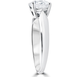 1 1/2ct 4-Prong Enhanced Diamond Solitaire Engagement Ring 14K White Gold (F, VS)