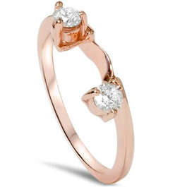 1/4ct Diamond Guard Ring Enhancer 14K Rose Gold (G/H, I1)