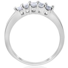 1/2ct Princess Cut Diamond Curved Wedding Ring Enhancer 14K White Gold (G/H, I1-I2)