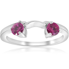1/2ct Ruby Wrap Ring 14K White Gold